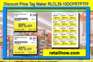 Discount Price Tag Maker RLCL35-10DCPRTPTFF