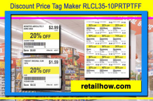 Discount Price Tag Maker RLCL35-10PRTPTFF