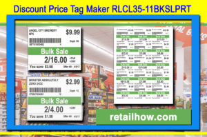 Discount Price Tag Maker RLCL35-11BKSLPRT