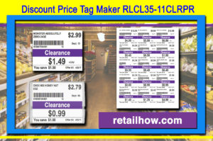 Discount Price Tag Maker RLCL35-11CLRPR