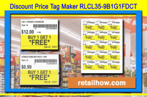 Discount Price Tag Maker RLCL35-9B1G1FDCT
