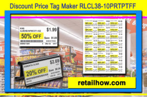 Discount Price Tag Maker RLCL38-10PRTPTFF