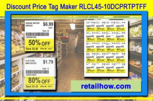 Discount Price Tag Maker RLCL45-10DCPRTPTFF