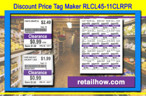 Discount Price Tag Maker RLCL45-11CLRPR