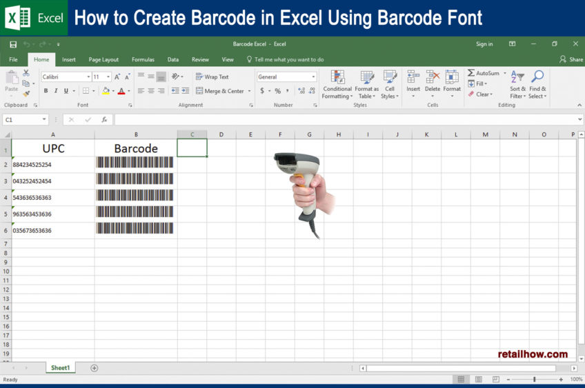 How to Create Barcode in Excel Using Barcode Font