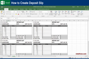 How to create deposit slip