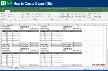How to Make Deposit Slip in Excel