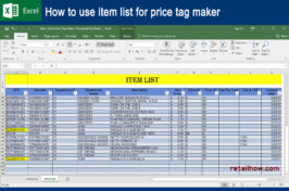 How to Use Item List for Price Tag Maker
