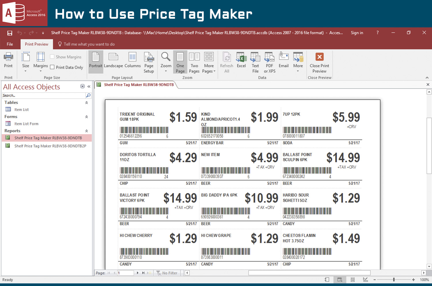 how to create your own price tags in access amp excel - 1280×720