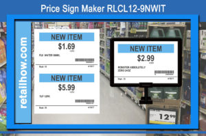 Price Sign Maker RLCL12-9NWIT