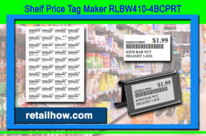 Shelf Price Tag Maker RLBW410-4BCPRT
