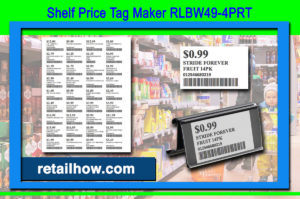 Shelf Price Tag Maker RLBW49-4PRT