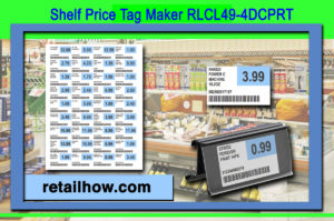 Shelf Price Tag Maker RLCL49-4DCPRT