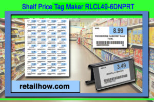 Shelf Price Tag Maker RLCL49-6DNPRT