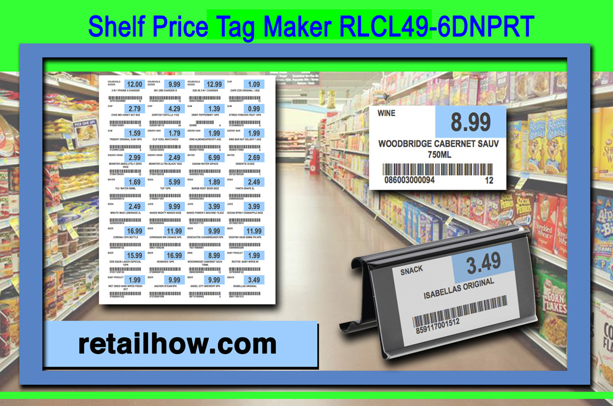 Get Free Price Tag Maker Rlcl49 6dnprt Retailhow