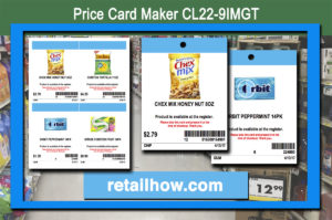 Price Card Maker CL22-9IMGT
